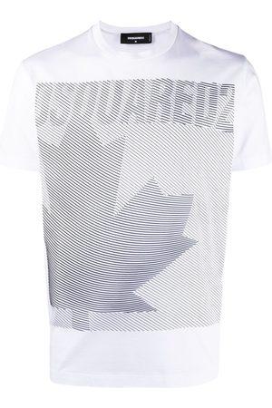 Dsquared2 Leaf-print crew neck T-shirt