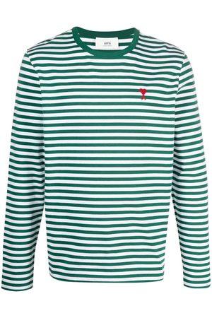 Ami Horiztonal-stripe long-sleeve top