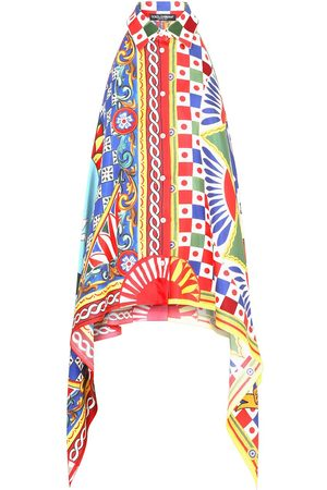 Dolce & Gabbana Women Shirts - Geometric-print asymmetric shirt
