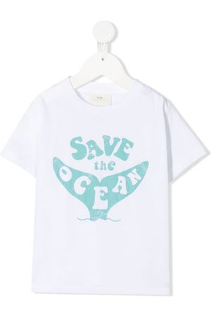 KNOT Boys T-shirts - Save The Ocean-print T-shirt
