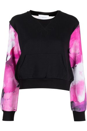 Marchesa Notte Sheer panel sweatshirt
