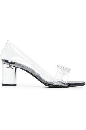Comme des Garçons Buckled block-heel sandals - Neutrals