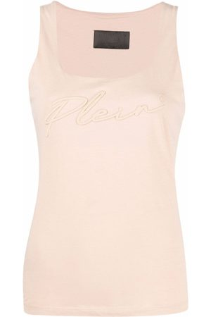 Philipp Plein Logo-embroidered vest top - Neutrals