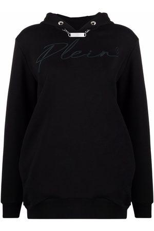 Philipp Plein Signature logo-embroidered hoodie