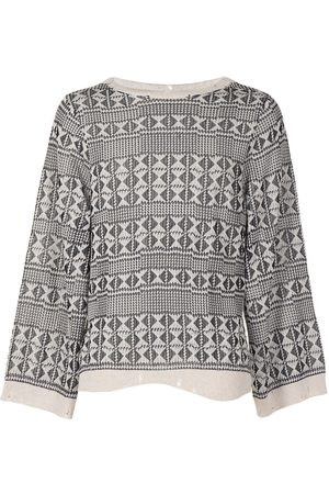 Saint Laurent Geometric-pattern knitted jumper