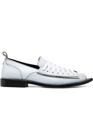 Nº21 Pointed-toe lace-up loafers