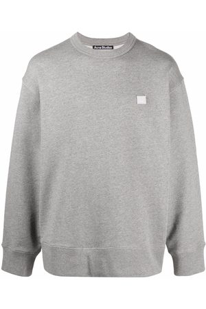 Acne Studios Face patch oversized sweatshirt - Grey