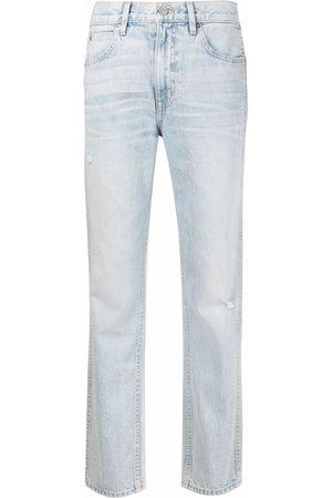SLVRLAKE Whiskering effect slim-legged jeans