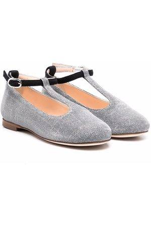 Prosperine Girls Ballerinas - Metallic-threading ballerina shoes
