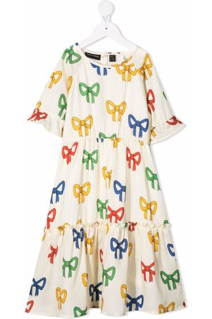 Mini Rodini Bow-print A-line dress