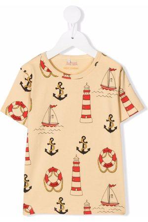 Mini Rodini Lighthouse-print short-sleeve T-shirt