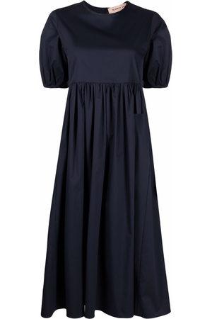BLANCA Gathered short-sleeved dress
