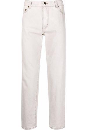 Saint Laurent Straight-leg cropped jeans - Grey