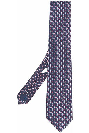 Salvatore Ferragamo Motif-print silk tie