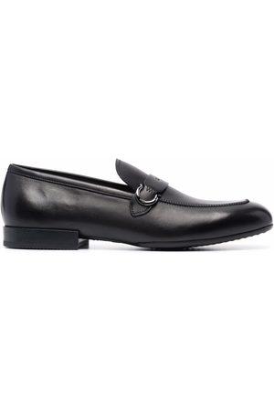 Salvatore Ferragamo Men Loafers - Square-toe polished-finish loafers