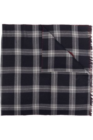 Salvatore Ferragamo Men Scarves - Gancini-print checked scarf