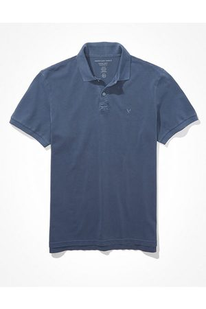 American Eagle Outfitters Super Soft Icon Heathered Pique Polo Shirt Men's S