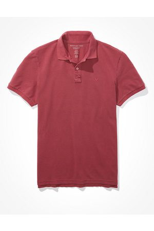 American Eagle Outfitters Super Soft Icon Heathered Pique Polo Shirt Men's XS