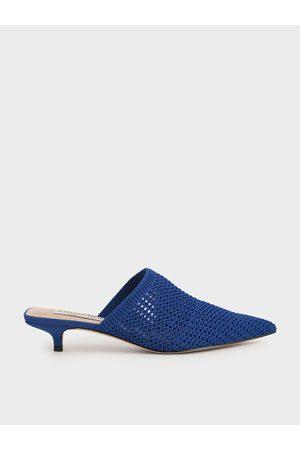CHARLES & KEITH Knitted Kitten Heel Mules