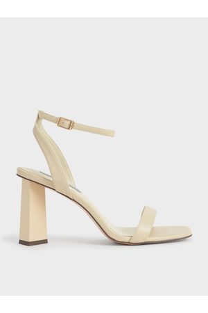 CHARLES & KEITH Ankle Strap Geometric Heeled Sandals