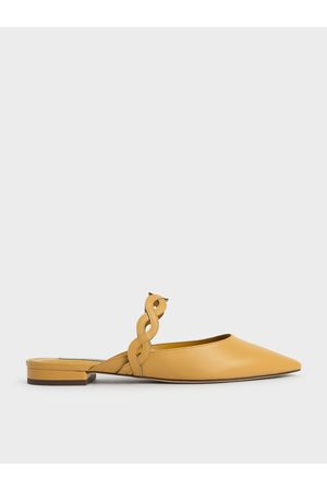 CHARLES & KEITH Woven Strap Flat Mules