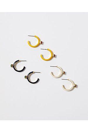 ANN TAYLOR Enamel Huggie Earring Set