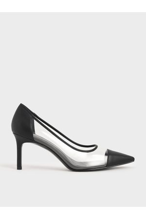 CHARLES & KEITH Women Heels - Toe Cap See-Through Pumps