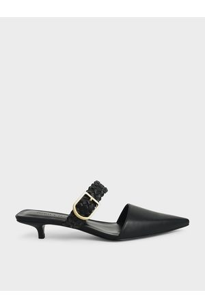 CHARLES & KEITH Woven Buckle Strap Mules