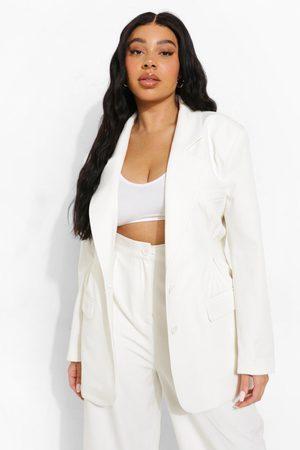 Boohoo Women Blazers - Womens Plus Premium Tailored Dart Detail Blazer - - 12