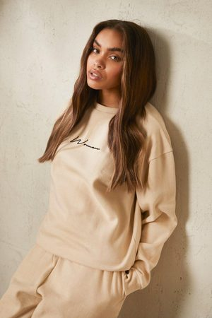 Boohoo Women Hoodies - Womens Recycled Woman Script Sweatshirt - - S