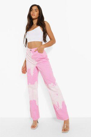 Boohoo Womens Bleached High Waist Boyfriend Jeans - - 2