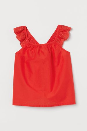 H&M Kids Tank Tops - Ruffle-trimmed Cotton Top