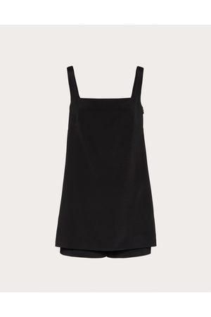 VALENTINO Short Jumpsuit In Stretch Crepe Couture Women Elastane 1%, Silk 20%, Wool 75% 42