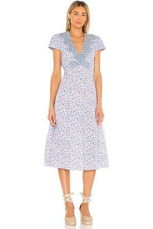 LOVESHACKFANCY Minuet Dress in Lavender.