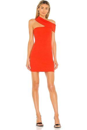 NBD Ianna Dress in Brick.