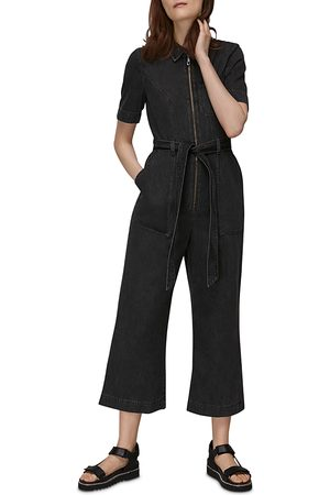 Whistles Belted Denim Jumpsuit