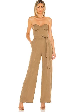 Lovers + Friends Steph Jumpsuit in Tan.