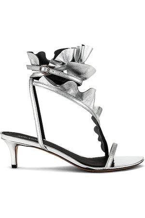 Isabel Marant Aseta Sandal in Metallic .