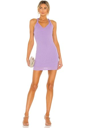 superdown Lily Twisted Strap Dress in Lavender.