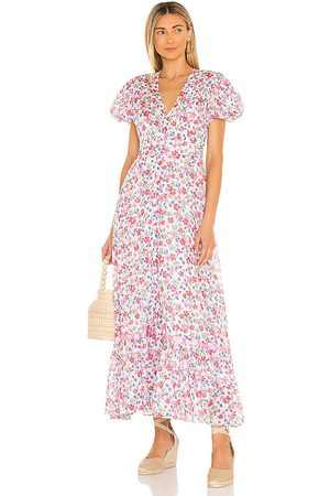 LOVESHACKFANCY Briony Dress in Rose.