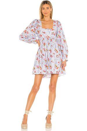 LOVESHACKFANCY Eaton Dress in Lavender.