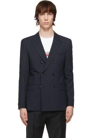 HUGO BOSS Navy Pinstripe Blazer