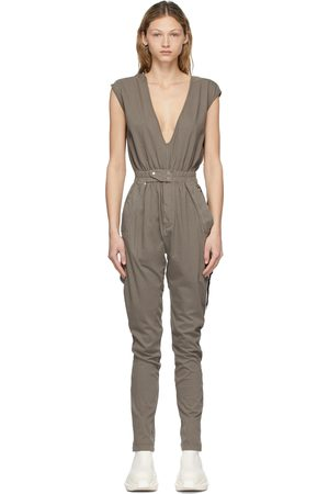 Rick Owens Taupe Performa Bodybag Jumpsuit