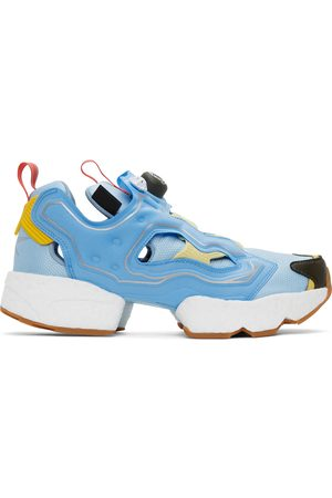 Billionaire Boys Club Blue & Yellow Reebok Edition Instapump Fury Boost Low Sneakers