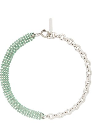 Justine Clenquet Silver & Green River Choker