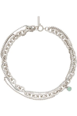Justine Clenquet Silver & Green Uma Necklace