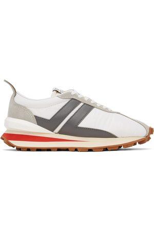 Lanvin White & Grey Bumpr Sneakers