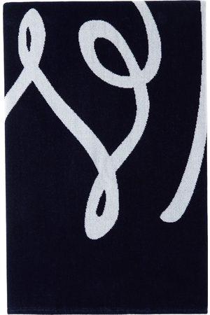 Ermenegildo Zegna Navy Logo Beach Towel