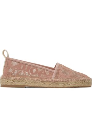 Chloé Pink Lace Woody Espadrilles