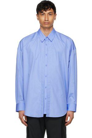 JUUN.J Blue Shirring Shirt